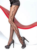Fiore - Patterned Tights Brianna Black