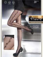 Fiore - Patterned Tights Dafne Black