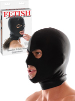 Fetish Fantasy - Spandex 3 Hole Hood Black