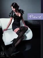 Fiore - Microfibre Hold-Ups Jacqueline Grey