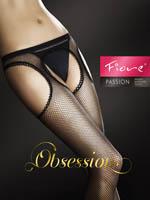 Fiore - Fishnet Suspender Tights Passion Black