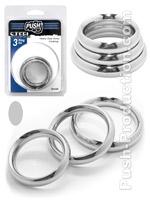Push Steel - Heavy Duty Donut Cockring 3-Ring Set Small