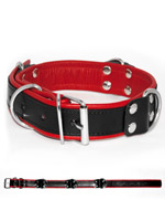 Deluxe Bondage Collar - Black/Red