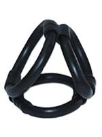 Tri Ring Cock Cage - schwarz