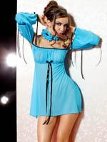 Anais - Mini Dress + String Xenia Turquoise